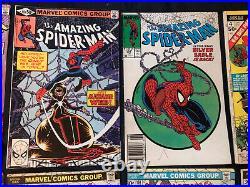 Huge AMAZING SPIDER-MAN All Key lot of 15 comics86,121,124,238 (w tattooz), 252+