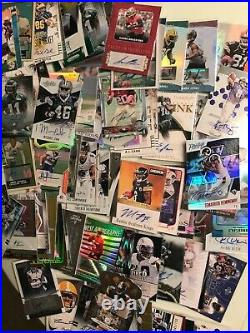 Huge Lot 800 ALL Auto Autograph Football Cards Collection #ed No Junky Brands