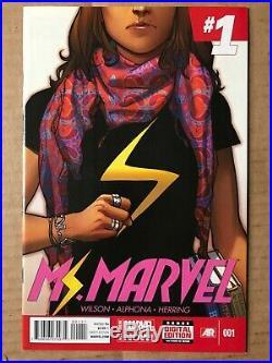 Kamala Khan Lot MS. MARVEL #1 2014 NM Variant Captain 17 ALL-NEW NOW POINT ONE