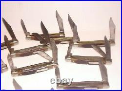 LOT 16 Vtg. OLD TIMER POCKET KNIFE USA SCHRADE Trapper Stockman All Good Blades