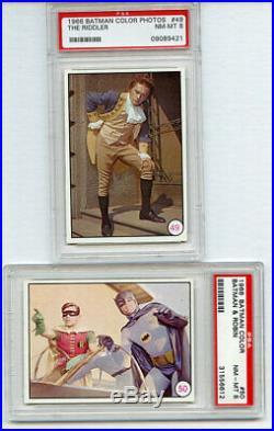 LOT OF 10 CARDS 1966 TOPPS BATMAN COLOR (Bat Laffs) ALL NM-MINT HIGH-END PSA 8