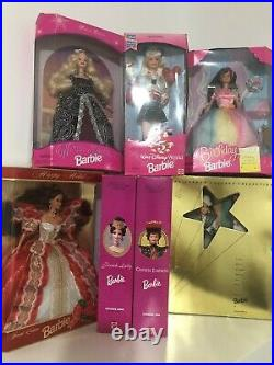LOT of 7 Collectible Barbie Dolls All New in Unopened Box