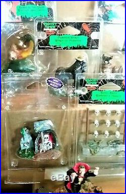 Large Lemax Spookytown Halloween Lot Figurines all Mint, Some Original Package