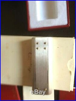 Lighter/Briquet CARTIER Santos Acier et Or Full Set an Old Stock all Mint New