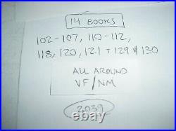 Lot 14 Spawn run 102-107 110-112 118 120 121 129 130 all around VF/NM! 106 2039