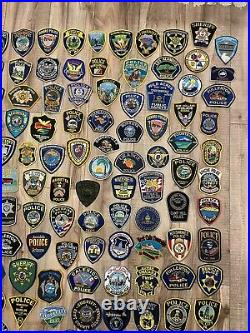 Lot Of 158 Police Sheriffs Department Patches ALL DIFFERENT Law Enforcement Cop