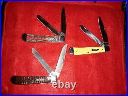 Lot Of 6 CASE XX Trapper Knives-folding pocket knife-ALL 4 1/8 IN. CLOSED. WithCASE