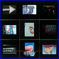 Lot Of 90 Neon Arrow Signs 1960s-1970 All 1 Amateur Photog Vtg 35mm Photo Slides