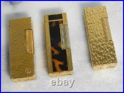 Lot of 3 Dunhill Rollagas gas Lighter all movable product Vol. 14