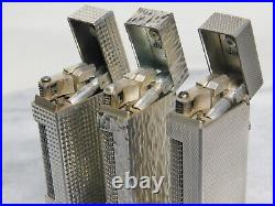 Lot of 3 Dunhill Rollagas gas Lighter all movable product Vol. 17