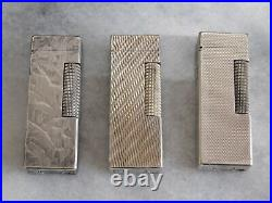Lot of 3 Dunhill Rollagas gas Lighter all movable product Vol. 37