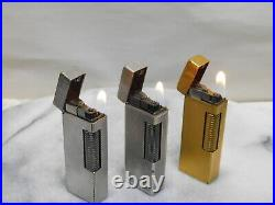 Lot of 3 Dunhill Rollagas gas Lighter all movable product Vol. 3
