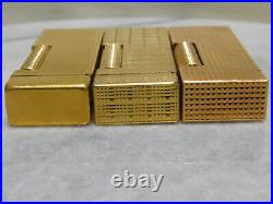Lot of 3 Dunhill Rollagas gas Lighter all movable product Vol. 9