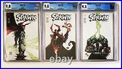 Lot of 3 SPAWN #185 all CGC 9.8 Portacio McFarlane Capullo 3 Covers 2008 Variant
