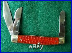 Lot of 4 Vintage Case Knives Red Bone All XX 1940-64