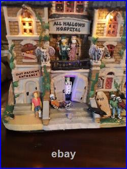 MINT RARE RETIRED Lemax Spookytown, All Hallows Hospital #05009 Halloween RACHET