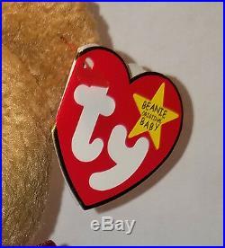 MINT Ty Beanie Baby Curly Bear ALL Errors Handmade 1st Edition Beanies WOW
