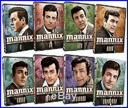Mannix Collection Complete Series DVD Set Lot All 8 Season Episodes Box TV Show