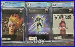 Marvel Hip Hop Variant CGC Gwenpool All New Wolverine Black Knight 1 LOT