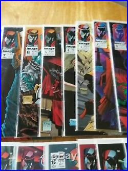 Mcfarlane spawn comic lot 1995 issues 1 thru 22 all bagged and boarded