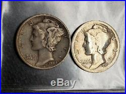 Mercury Dime Collection 1960 Whitman Album all mints & 1916-D & 1942/41 overdate