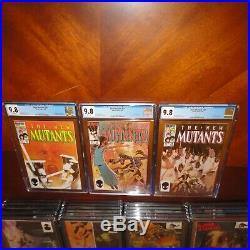 New Mutants Lot of 31 #1-31 All CGC 9.8 NM/MT Key Issues #1,8,9,14,16,18,25,26