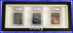 PSA 10 Gem Mint Pokemon Base Set 1999 Booster Packs x 3 All Artworks Consecutive