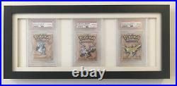 PSA 10 Gem Mint Pokemon Fossil 1st Edition 1999 Booster Packs x 3 All Artworks