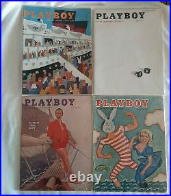 Playboy Magazine Full Year Set 1957 All 12 Issues Complete Collection Nude Lot