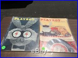 Playboy Magazine Full Year Set 1957 All 12 Issues. Complete Collection. Nude Lot