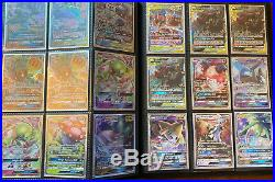 Pokemon Collection Binder All GX/ FULL ARTS / HYPER RARES! 200 CARDS ALL MINT