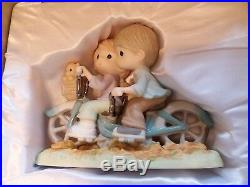 Precious Moments All For The Love Of You on a BICYCLE Built For Two LE 3000 MINT