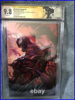 RARE Absolute Carnage Virgin Variant Lot ALL CGC 9.8 (#1-SS 3x) (#5-SS 2x) LOOK