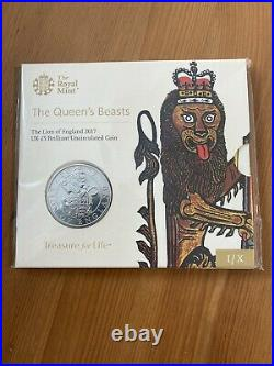 ROYAL MINT QUEENS BEASTS £5 Coin Collection All 10 Coin Pack Sealed