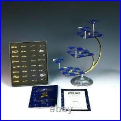 Rare Franklin Mint Star Trek 3d Chess Game Mint Clean In Ob With All Papers
