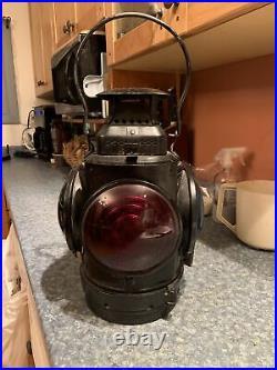 Rare The Adlake Non Sweating Four Way Caboose Signal Lantern All Original & Mint
