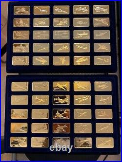 SO RARE! ALL DOCS! Franklin Mint Jane's Medallic 100 of World's Great Aircraft
