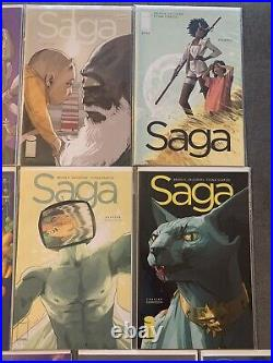 Saga lot of 12. 2-37 ALL 1ST PRINTS-NM Brian K Vaughan/Fiona Staples