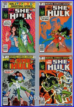 Savage She-hulk Lot A Complete Run 25 Bronze Age Comics #1-#25 All Newsstand Vf