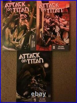 Shingenki no Kyojin/Attack on Titan Manga LOT VOL. 1-21 ALL LIGHTLY READ