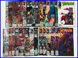 Spawn ALL Newsstand Lot of 27 #2, 3, 6, 7, 10, 13-49 50 Image Comics UPC Variant
