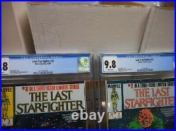 The Last Starfighter 1 2 3 SET ALL cgc 9.8 Marvel 1984 movie MINT mini star wars