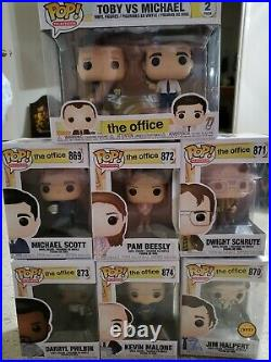 The Office Funko Pop Lot All Mint With Chase Jim Halpert Dwight Kevin Toby Michael