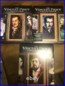 The Vincent Price Collection 1, 2 & 3LOT (Blu-ray) ALL THREE VOLUMES OOP -Used