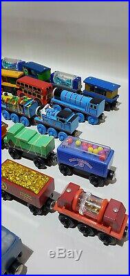 Thomas the train huge lot of 63 wooden Collectibles all Official learning Curve