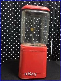 VINTAGE Oak Acorn All Purpose 1 Cent Vending Machine mint with key