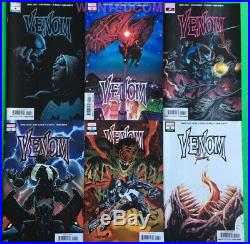 Venom 1 2 Variant 3 4 5 6 All First Prints Donny Cates Marvel Comic Lot Set Nm