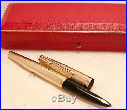 Vintage Mint Solid Gold 9k Parker 61 Fountain Pen Boxed 1979 All Original