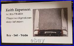 Vintage original Remington knife bone stag pyremite etch knives all mint, etch