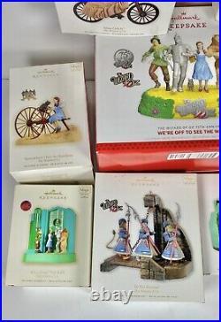 Wizard of Oz Hallmark Keepsake Collection Ornament Lot Magic All new In Box